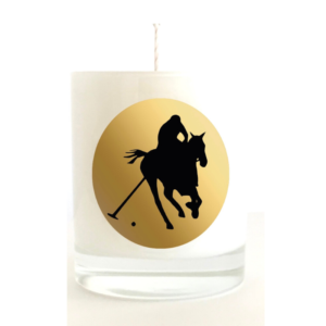 White Musk & Amber Scented Candle